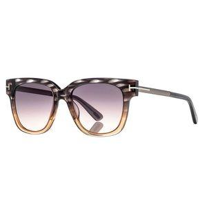 Tom Ford Square Sunglasses Smoke Gradient Lens